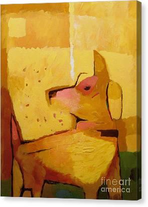 Yellow Dog Canvas Print by Lutz Baar