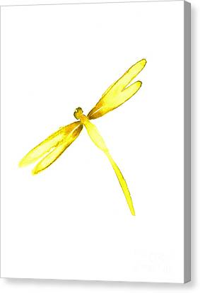 Yellow Dragonfly Canvas Print by Mariusz Szmerdt