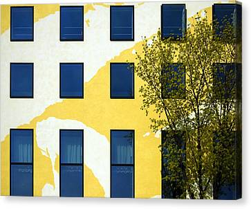 Yellow Facade In Berlin Canvas Print by RicardMN Photography