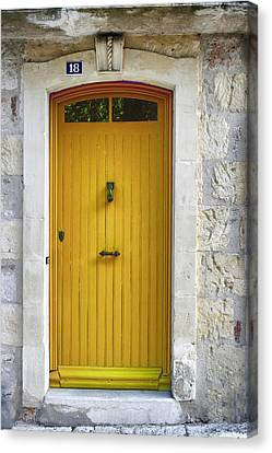 Yellow French Door Canvas Print by Georgia Fowler