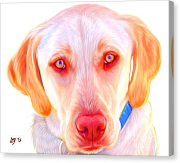 Yellow Labrador Dog Art With White Background Canvas Print by Iain McDonald