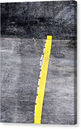Yellow Line Canvas Print by John Illingworth