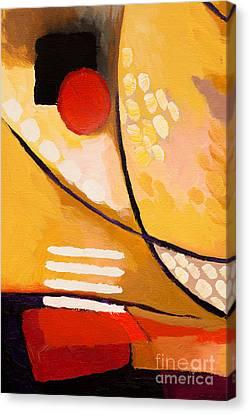 Yellow Move Canvas Print by Lutz Baar