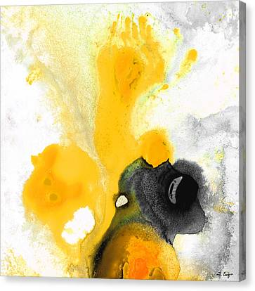 Yellow Orange Abstract Art - The Dreamer - By Sharon Cummings Canvas Print by Sharon Cummings