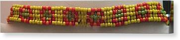 Yellow Orange Red And Green Bracelet Canvas Print by Kimberly Johnson