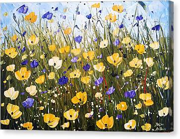 Yellow Poppis Canvas Print by Jolina Anthony