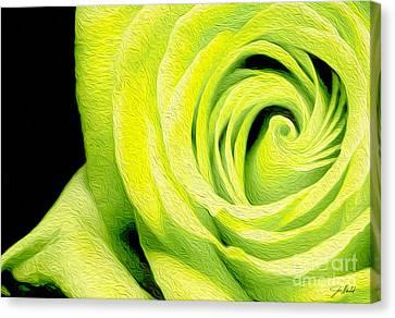 Yellow Rose Canvas Print by Jon Neidert