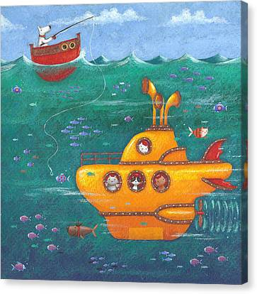 Yellow Submarine Canvas Print by Peter Adderley
