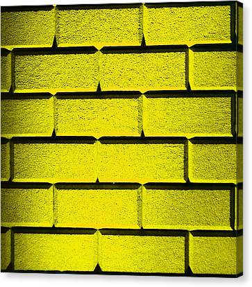Yellow Wall Canvas Print by Semmick Photo