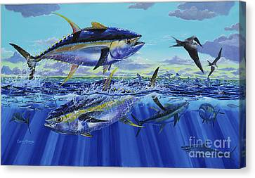 Yellowfin Bust Off0083 Canvas Print by Carey Chen