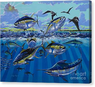 Yellowfin Run Off002 Canvas Print by Carey Chen