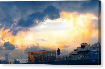 Yellows Of Florence Canvas Print by Marcello Cicchini