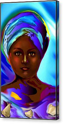 Yemaya -the Mother Goddess Canvas Print by Carmen Cordova