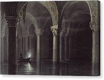 Yere Batan Serai Istanbul, Engraved Canvas Print by William Henry Bartlett