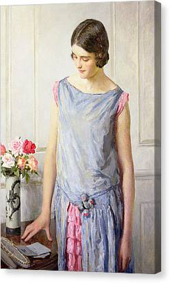 Yes Or No Canvas Print by William Henry Margetson