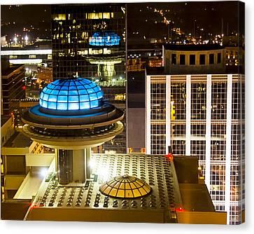 Yesterday's Future - Classic Atlanta Skyline Canvas Print by Mark E Tisdale