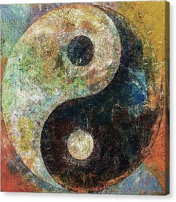 Yin And Yang Canvas Print by Michael Creese