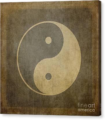 Yin Yang Vintage Canvas Print by Jane Rix