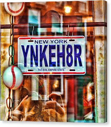 Ynkeh8r - Boston Canvas Print by Joann Vitali