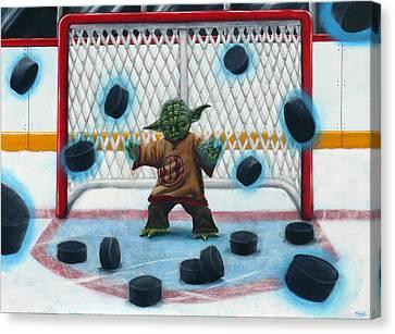 Yoda Saves Everything Canvas Print by Marlon Huynh