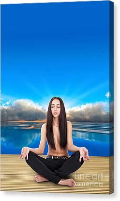 Yoga Pose Canvas Print by Aleksey Tugolukov