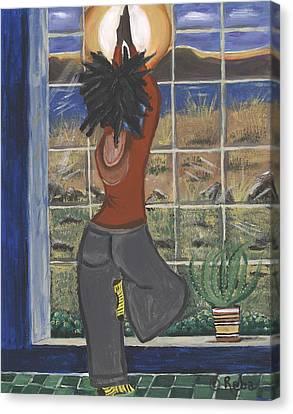 Yoga Canvas Print by Reba Baptist