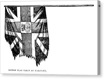 Yorktown: British Flag Canvas Print by Granger