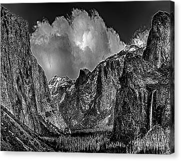 Yosemite Valley From Tunnel Canvas Print by Bob and Nadine Johnston