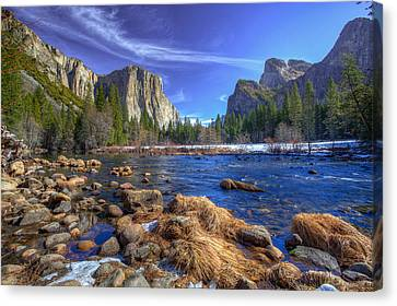 Yosemite's Valley View Canvas Print by Mike Lee