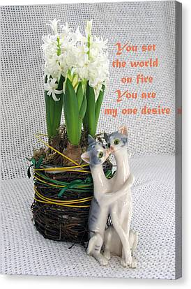 You Are My One Desire Canvas Print by Ausra Huntington nee Paulauskaite