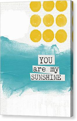 You Are My Sunshine- Abstract Mod Art Canvas Print by Linda Woods