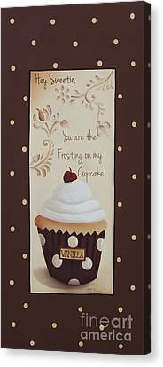 You Are The Frosting On My Cupcake Canvas Print by Catherine Holman