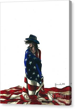 You Find Freedom Inside Canvas Print by J Ferwerda
