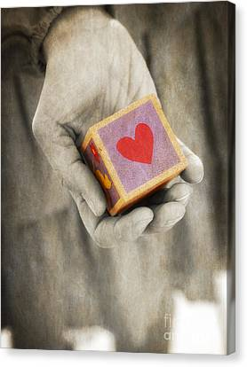 You Hold My Heart In Your Hand Canvas Print by Edward Fielding