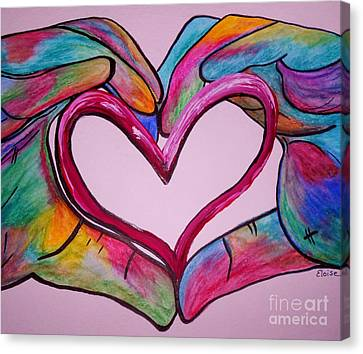You Hold My Heart In Your Hands Canvas Print by Eloise Schneider