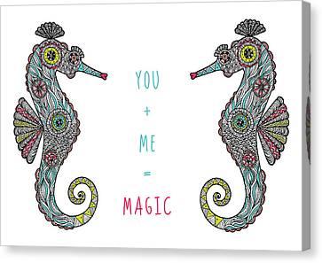 You Plus Me Equals Magic Canvas Print by Susan Claire