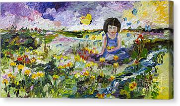 You Will Find Me By The Brook Where The Butterflies Live Canvas Print by Ginette Callaway