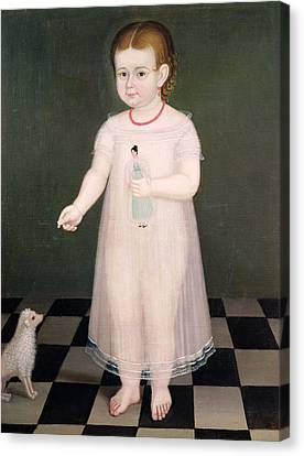 Young Girl With A Doll, 1838 Oil On Canvas Canvas Print by Jose Maria Estrada