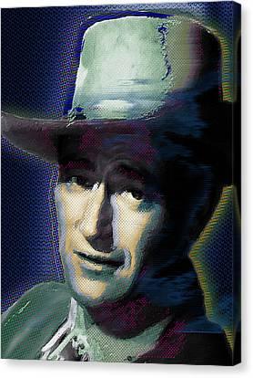 Young John Wayne Pop 1 Canvas Print by Tony Rubino