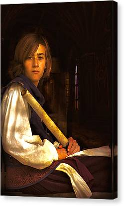 Young Lad In Window Canvas Print by John Rivera