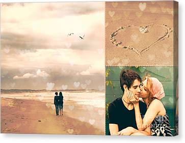 Young Love Canvas Print by Linda Lees