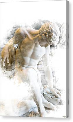 Young Man Canvas Print by Evie Carrier