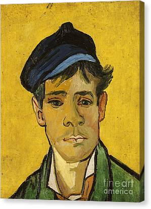 Young Man With A Hat Canvas Print by Vincent Van Gogh