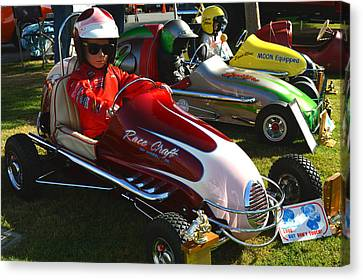 Young Racers Canvas Print by Bill Dutting
