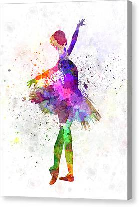 Young Woman Ballerina Ballet Dancer Dancing With Tutu Canvas Print by Pablo Romero