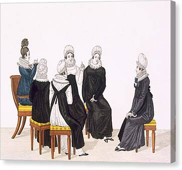 Young Women Chatting, C. 1820 Canvas Print by French School