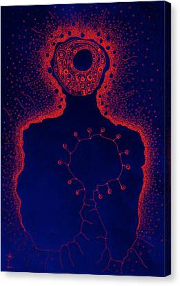 Your Aura During The Night Canvas Print by Paul Petroniu