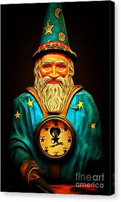 Your Fortune Be Told By The Wizard Fortune Telling Machine 7d144 Canvas Print by Wingsdomain Art and Photography