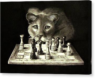 Your Move Canvas Print by Steve Ellenburg