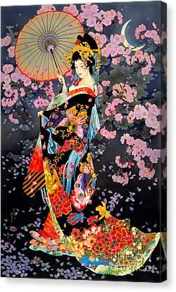Yozakura Canvas Print by Haruyo Morita